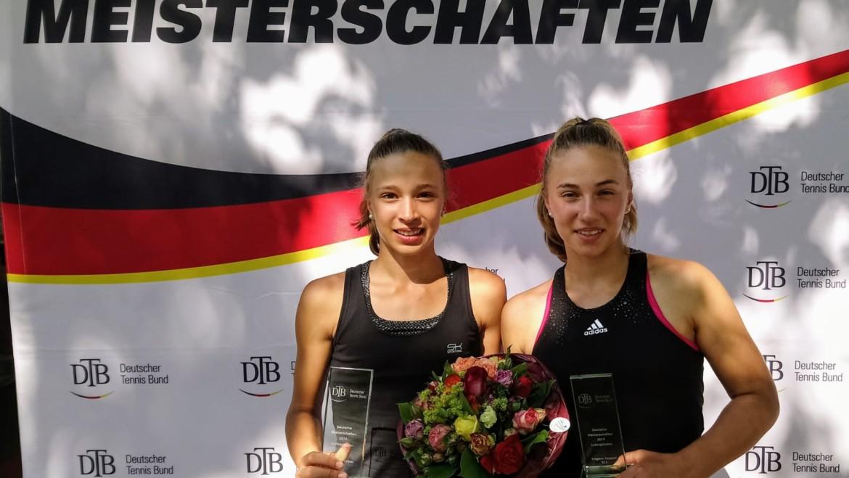 Josy und Emma Daems sind Deutsche Meister im Doppel – Josy gewinnt auch im Einzel!