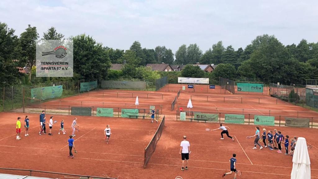 Tennis-Feriencamp des TV Sparta 87 Nordhorn