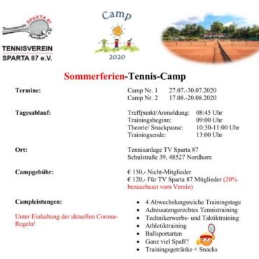 Kinder Sommerferien-Tenniscamp
